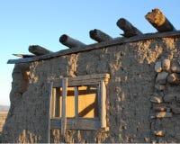 Het oude Huis van Hoeveadobe met Vigas Royalty-vrije Stock Afbeelding