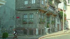 Het oude huis van Istanboel stock videobeelden