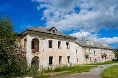 Het oude huis van het mijnbouwdorp stock foto's