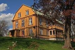 Het oude huis van Zweden stock afbeelding