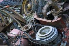 Het oude ijzer van het puin Stock Foto
