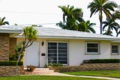 Het oude ingebouwde huis van Florida 1950 ` s Royalty-vrije Stock Afbeelding