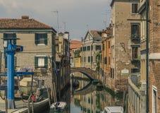 Het oude kanaal van Venetië Royalty-vrije Stock Fotografie