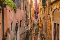 Het oude kanaal van Venetië Royalty-vrije Stock Foto