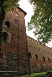 Het oude kasteel Nidzica van Polen Stock Afbeeldingen
