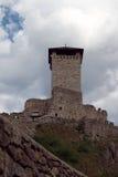 Het oude kasteel in Ossana Italië Royalty-vrije Stock Foto's