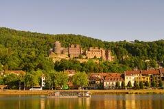 Het Oude Kasteel van Heidelberger en rivier, de zomer van 2010 Royalty-vrije Stock Afbeelding