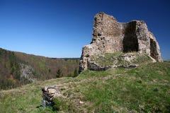 Het oude kasteel van ruïnes Stock Fotografie