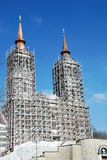 Het oude katholieke klooster Heilige Mary (Maria Radna) onder wederopbouw stock afbeeldingen