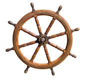 Het oude knipsel van het bootstuurwiel Stock Afbeelding