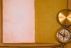 Het oude kompas van het stijlmessing Royalty-vrije Stock Afbeeldingen