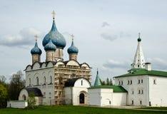 Het oude Kremlin in de stad Suzdal Stock Afbeeldingen