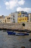 Het Oude kwart van Trapan Sicilië met boten Royalty-vrije Stock Foto's