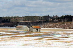 Het oude Landschap van het Land bij de Lente Stock Fotografie
