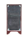 Het oude lege bord van het restaurantmenu Stock Foto