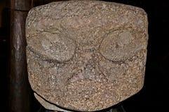 Het oude Maori Hoofd van het Graniet stock foto's