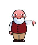 Het oude mens geven duimen neer Stock Foto's