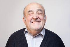 Het oude mens glimlachen Royalty-vrije Stock Afbeeldingen