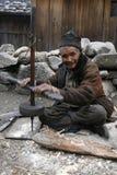 Het oude mens werken Royalty-vrije Stock Afbeelding