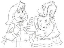 Het oude mensen spreken Stock Afbeeldingen