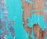 Het oude metaalpaneel met oblezshy groene verf Royalty-vrije Stock Foto