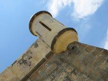 Het oude militaire kasteel van Cumana - watchtower Royalty-vrije Stock Afbeeldingen