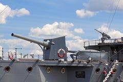Het oude militaire schip Royalty-vrije Stock Afbeeldingen