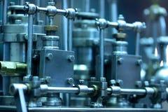 Het oude model van de stoommotor royalty-vrije stock afbeelding