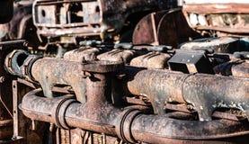 Het oude motoronderdeel royalty-vrije stock afbeelding