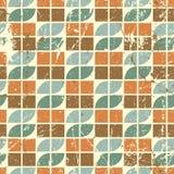 Het oude mozaïek van stijl naadloze tegels, vector abstracte achtergrond Stock Afbeelding