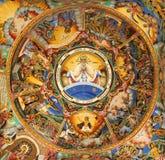 Het oude mural schilderen in klooster Rila Royalty-vrije Stock Foto