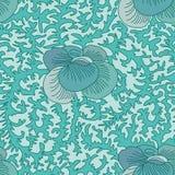 Het oude naadloze patroon van bloemdeco Stock Fotografie