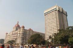 Het oude & nieuwe hotel TAJ India Royalty-vrije Stock Fotografie
