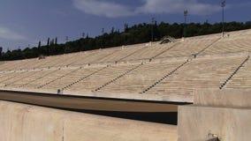 Het oude Olympische stadion van Athene stock footage
