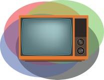 Het oude oranje TV-scherm Royalty-vrije Stock Afbeelding