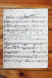 Het oude Oude Uitstekende Document van de Nota op Hout Royalty-vrije Stock Foto