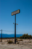 Het oude Overzees van Salton van het benzinestationteken, Californië Royalty-vrije Stock Foto