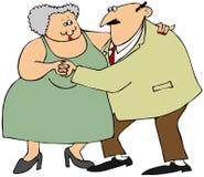 Het oude paar dansen Stock Foto