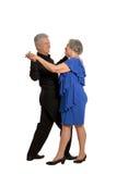 Het oude paar dansen Stock Foto's