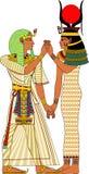 Het oude paar van Egypte vector illustratie