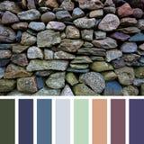 Het oude palet van de steenmuur Stock Afbeelding
