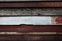 Het oude patroon en de achtergrond van de paneel houten muur Stock Afbeelding