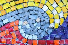 Het oude patroon leidt tot een overweldigend beeld Abstract geometrisch mozaïek uitstekend etnisch naadloos beeld sier Stock Afbeeldingen