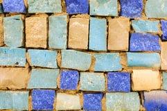 Het oude patroon leidt tot een overweldigend beeld Abstract geometrisch mozaïek uitstekend etnisch naadloos beeld sier Stock Foto's