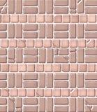 Het oude Patroon van de Baksteen & van de Tegel Stock Afbeeldingen