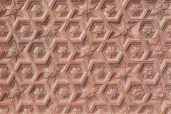 Het oude patroon van de qutub minar muur royalty-vrije stock afbeelding