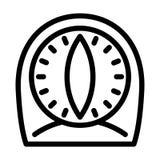 Het oude pictogram van de keukentijdopnemer, overzichtsstijl royalty-vrije illustratie