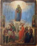 Het oude pictogram van heilig begraaft. Stock Foto's