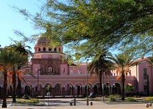 Het oude Pima-Gerechtsgebouw van de Provincie in Tucson, Arizona stock fotografie