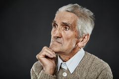 Het oude portret van de mensenclose-up Royalty-vrije Stock Foto